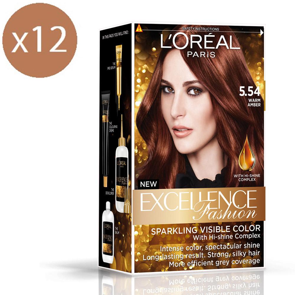 (買六送六)巴黎萊雅 優媚霜時尚魅力系列護髮染髮霜172g-濃烈暖赤褐色