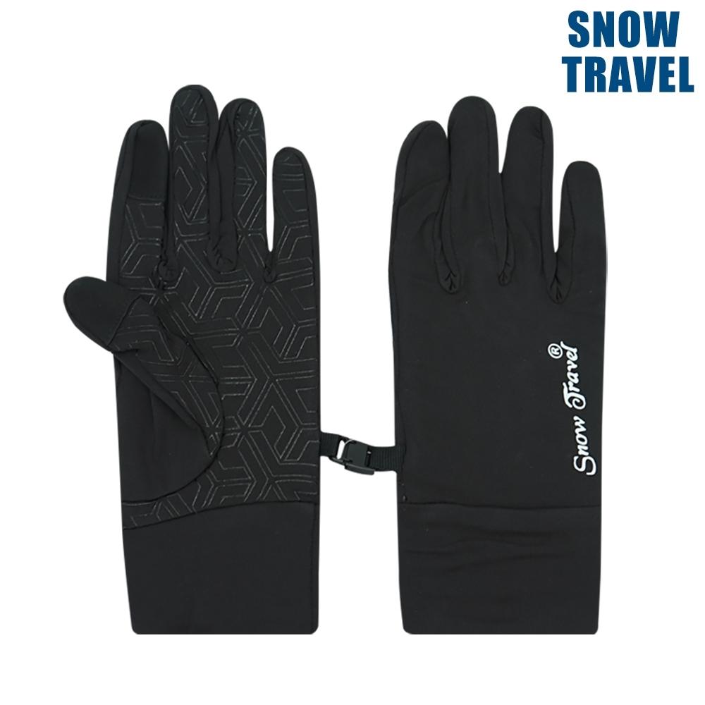 【Snow Travel】抗UV冰涼反光觸控手套 AH-28 / 黑