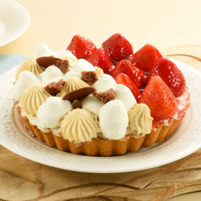 亞尼克雙拼派-鮮莓焦糖雙拼6吋