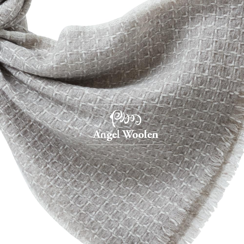 【ANGEL WOOLEN】格韻風尚印度手工編織cashmere圍巾披肩(共兩色)