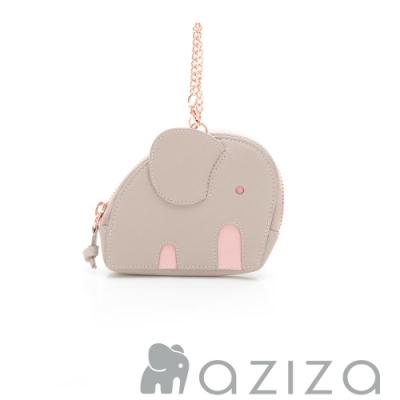 aziza小象造型吊掛零錢包 灰