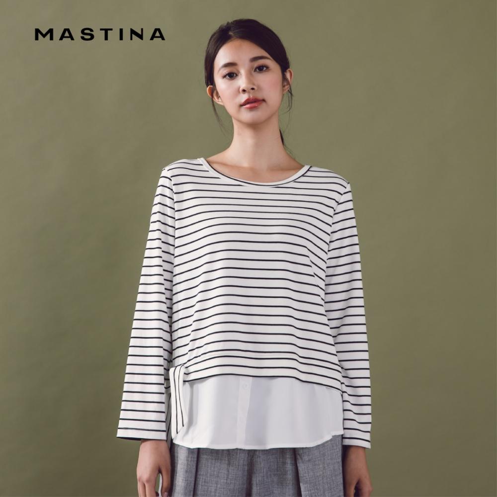 【MASTINA】雙層剪裁綁帶下襬-上衣(二色)