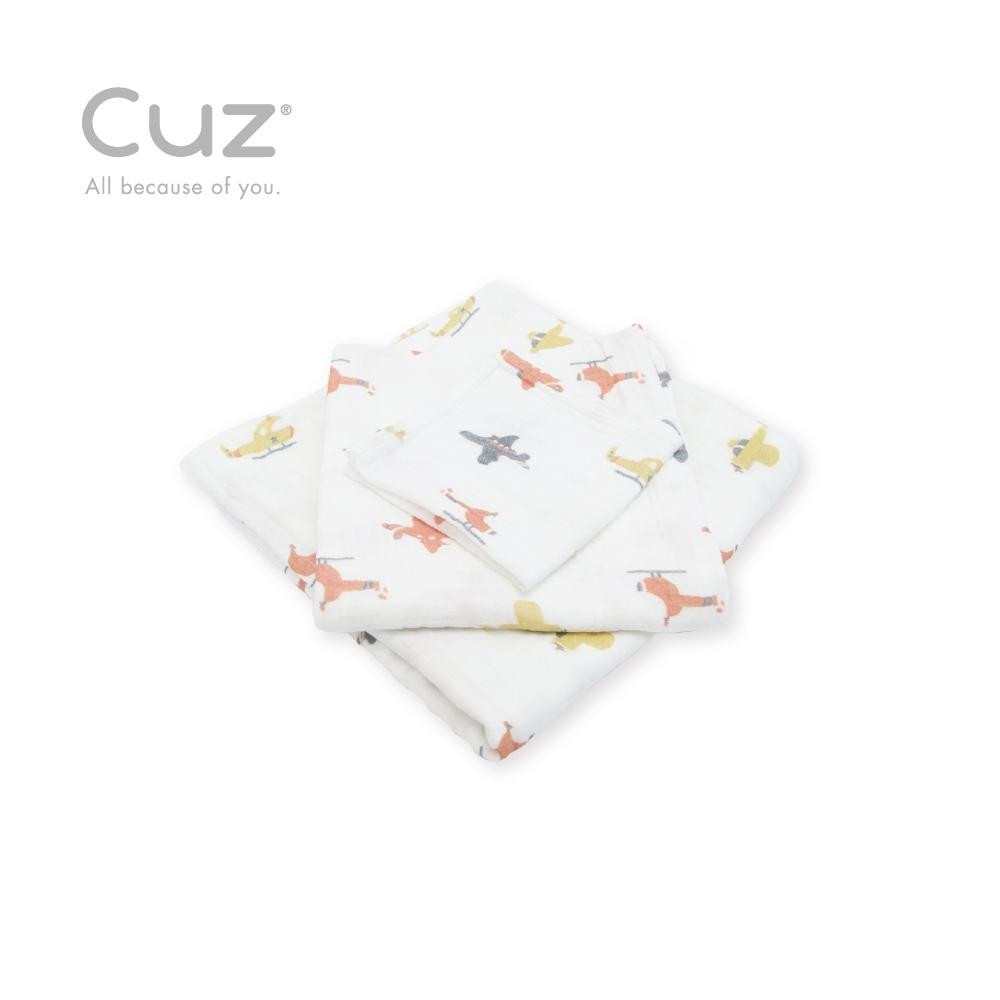 Cuz 有機棉紗布巾特技飛行(紗布巾)115cm