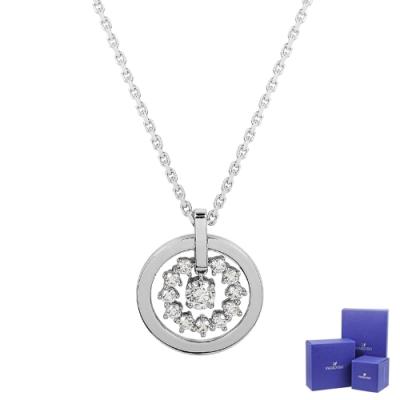 SWAROVSKI施華洛世奇 Further璀璨水晶圓環星形銀色項鍊