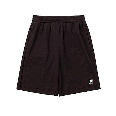 FILA KIDS 童吸濕排汗5分褲-黑 1SHT-4910-BK
