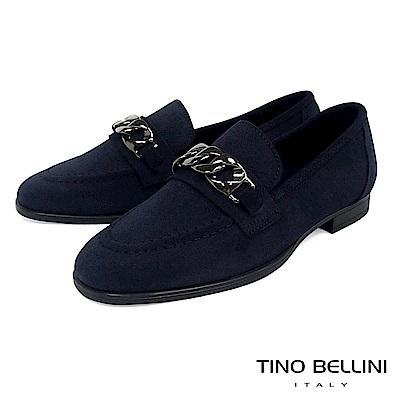 Tino Bellini 義大利進口歐式宮廷風環釦樂福鞋 _ 深藍