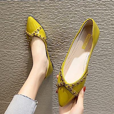 KEITH-WILL時尚鞋館 瘋搶簡單有型平底鞋-黃色