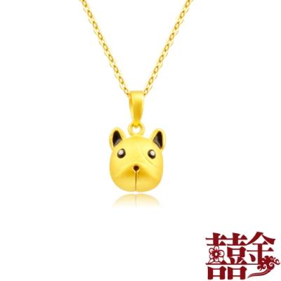 囍金 熱情小鬥牛鈴鐺(會響) 999千足黃金項鍊