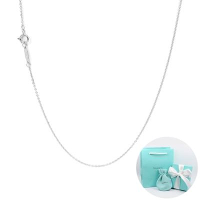 Tiffany&Co. 經典18k白金項鍊 16吋
