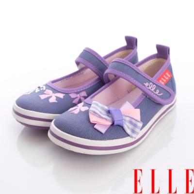 ELLE時尚童鞋~紛彩鑽飾娃娃款-32356紫(中小童段)
