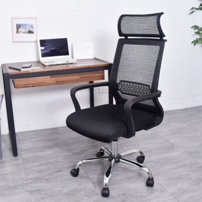 凱堡 漢克頭靠透氣工學鐵腳電腦椅 辦公椅