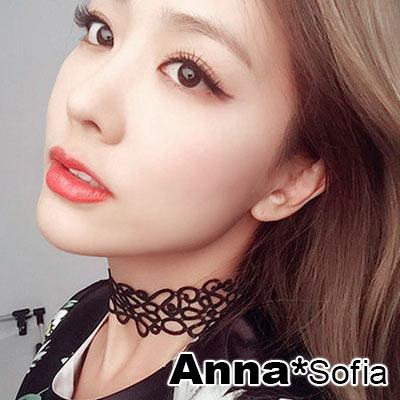 AnnaSofia-古典蕾絲-鎖骨鍊頸鍊項鍊CHO