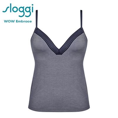 sloggi WOW Embrace 舒適手感蕾絲長版背心式內衣 星際藍 Y83-760B5