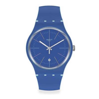 Swatch 菁華系列手錶 BLUE LAYERED 結構藍-41mm