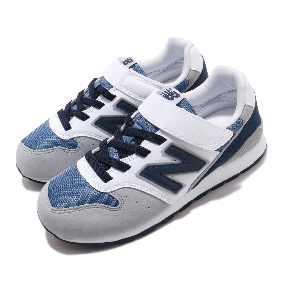 New Balance 休閒鞋 YV996PNV W 寬楦 運動 童鞋 紐巴倫 輕量 舒適 簡約 魔鬼氈 中童 白 灰 YV996PNVW