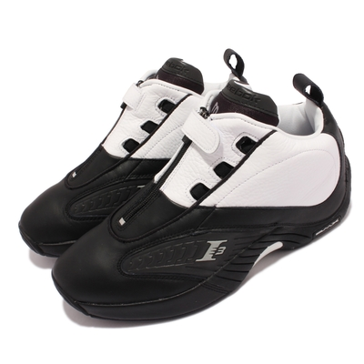 Reebok 籃球鞋 Answer IV Stepover 男鞋 經典配色 皮革 反光 艾佛森 球鞋 黑 白 G55111