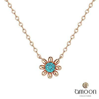amoon韓情脈脈系列 嬌豔 14K金寶石項鍊