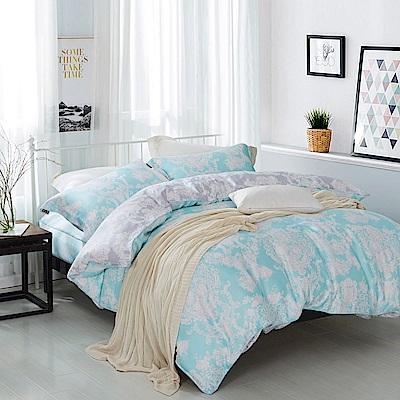 夢工場 時光琉璃 天絲頂規款兩用被鋪棉床包組-雙人