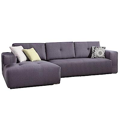 品家居 莎多娜灰亞麻布L型沙發(左右可選)-290x165x82-免組