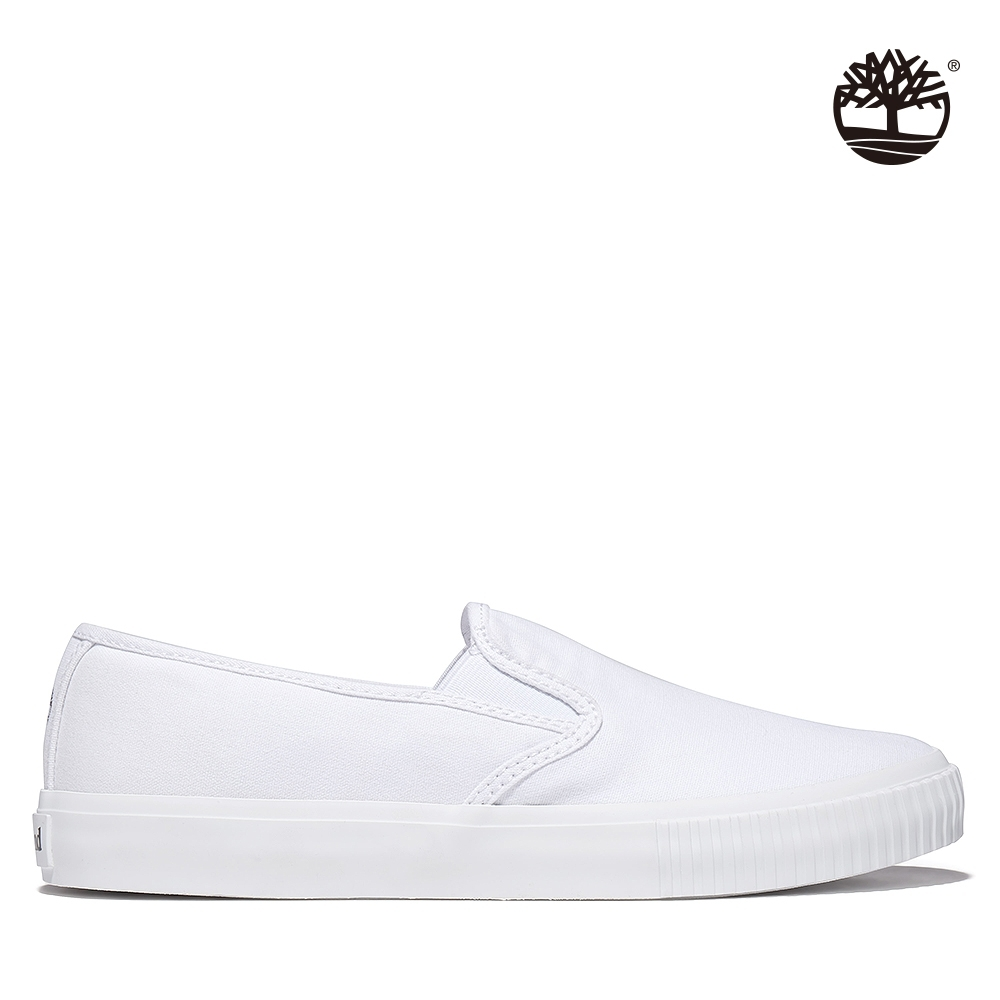 Timberland 女款白色Skyla Bay帆布便鞋|A2FNB