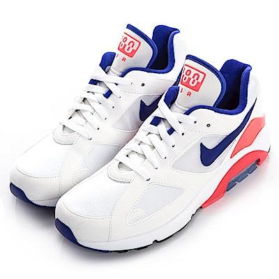 NIKE-AIR MAX 180 男慢跑鞋-白藍
