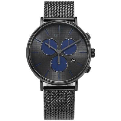 TIMEX 天美時INDIGLO專利冷光照明米蘭編織不鏽鋼手錶-鍍深灰/41mm