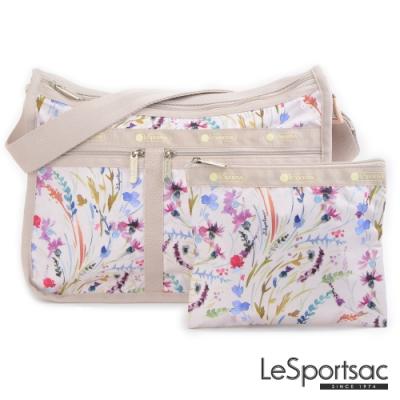 LeSportsac - Standard雙口袋A4大書包-附化妝包 (微風之花)