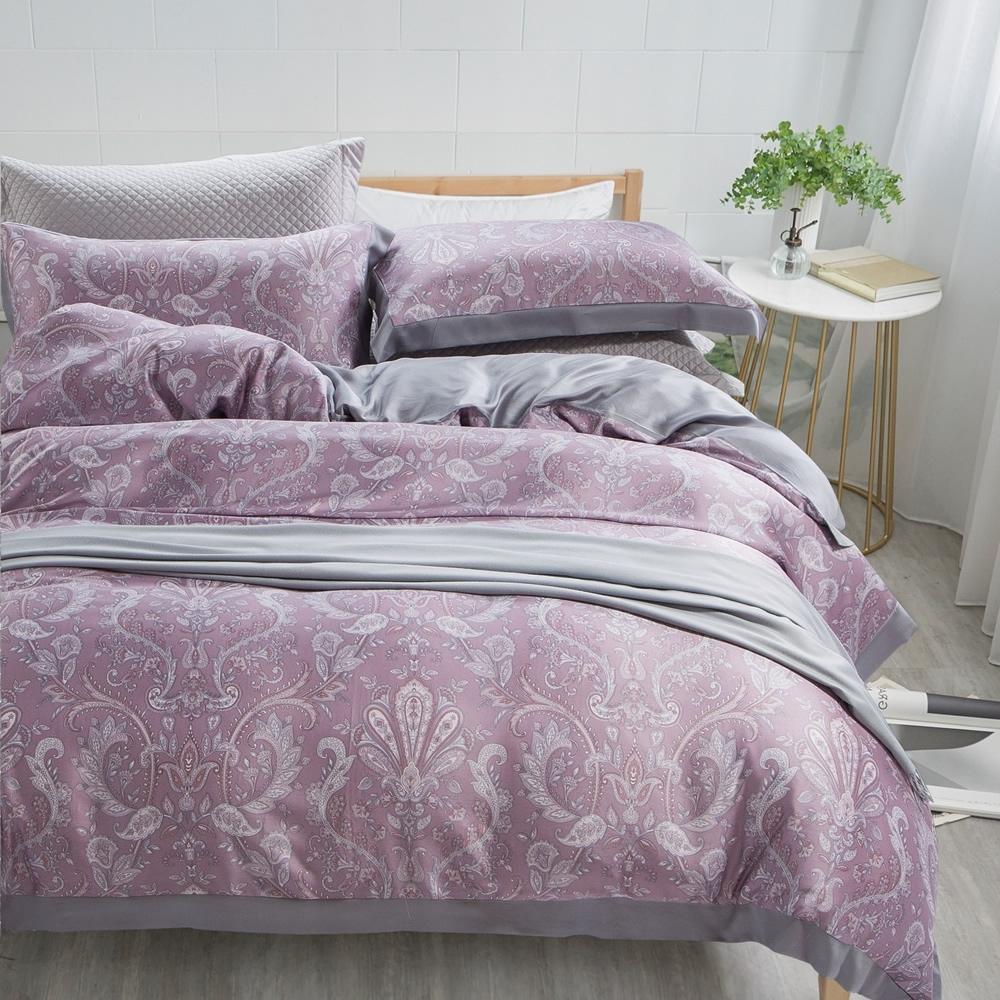 BUHO 300織100%TENCEL純天絲八件式兩用被床罩組-雙人(秘戀紫境)