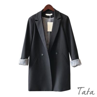 條紋內裡西裝外套 TATA-(M/L)