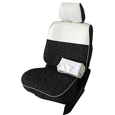 【葵花】量身訂做-汽車椅套-布料-直紋珍珠-露營車款-雙前座-第一排2人座