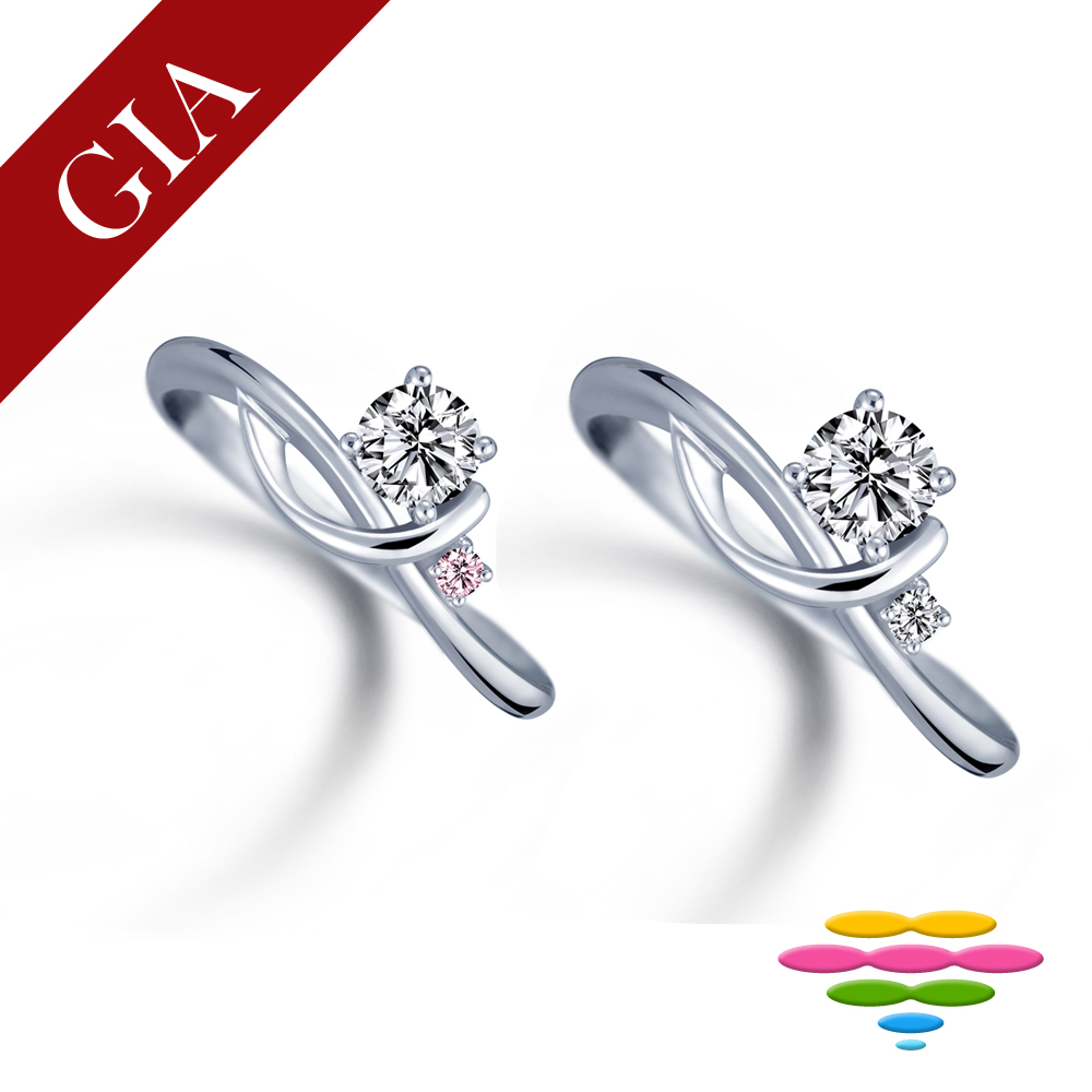 彩糖 GIA 30分 鑽石 E/VS2 3EX+八心八箭車工 鑽戒 求婚戒 (2選1) product image 1