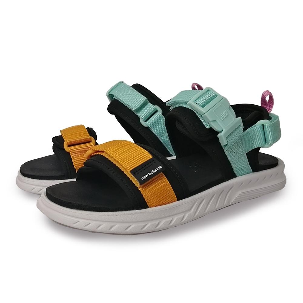New Balance 涼拖鞋 基本款 魔鬼氈 男女鞋 藍 黃 SDL600CYD