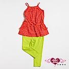 【天使霓裳-童裝】熱情點點 兒童背心長褲兩件組套裝(橘紅)