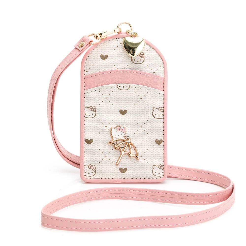 Kitty聯名-證件套 CATCH YOU !! 愛的抱抱-粉色