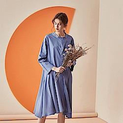 文藝時尚襯衫洋裝M-L(共三色)-CLORI