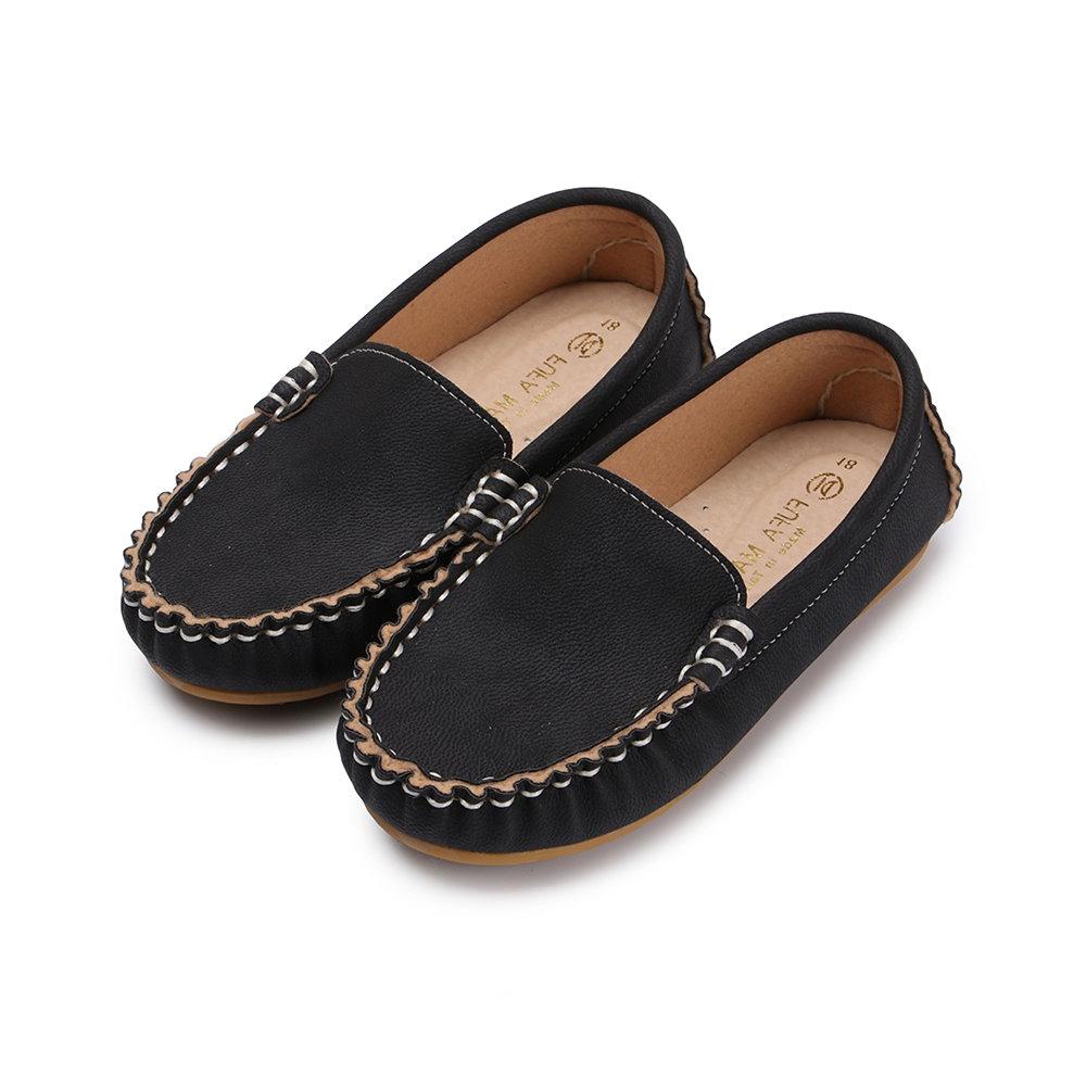 BuyGlasses 簡約輕柔兒童樂福鞋-黑