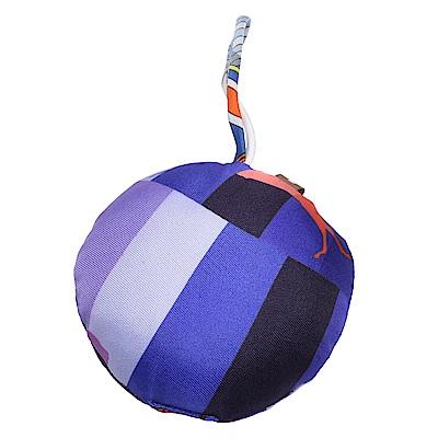 HERMES Ornament silk真絲抱枕造型掛/吊飾(紫)