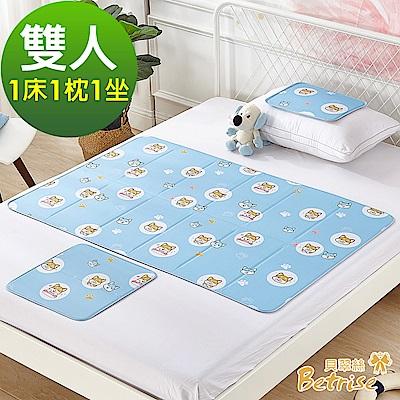 Betrise日本夯熱銷固態低反發抗菌凝膠持久冰涼墊-(雙人1床1枕1坐)
