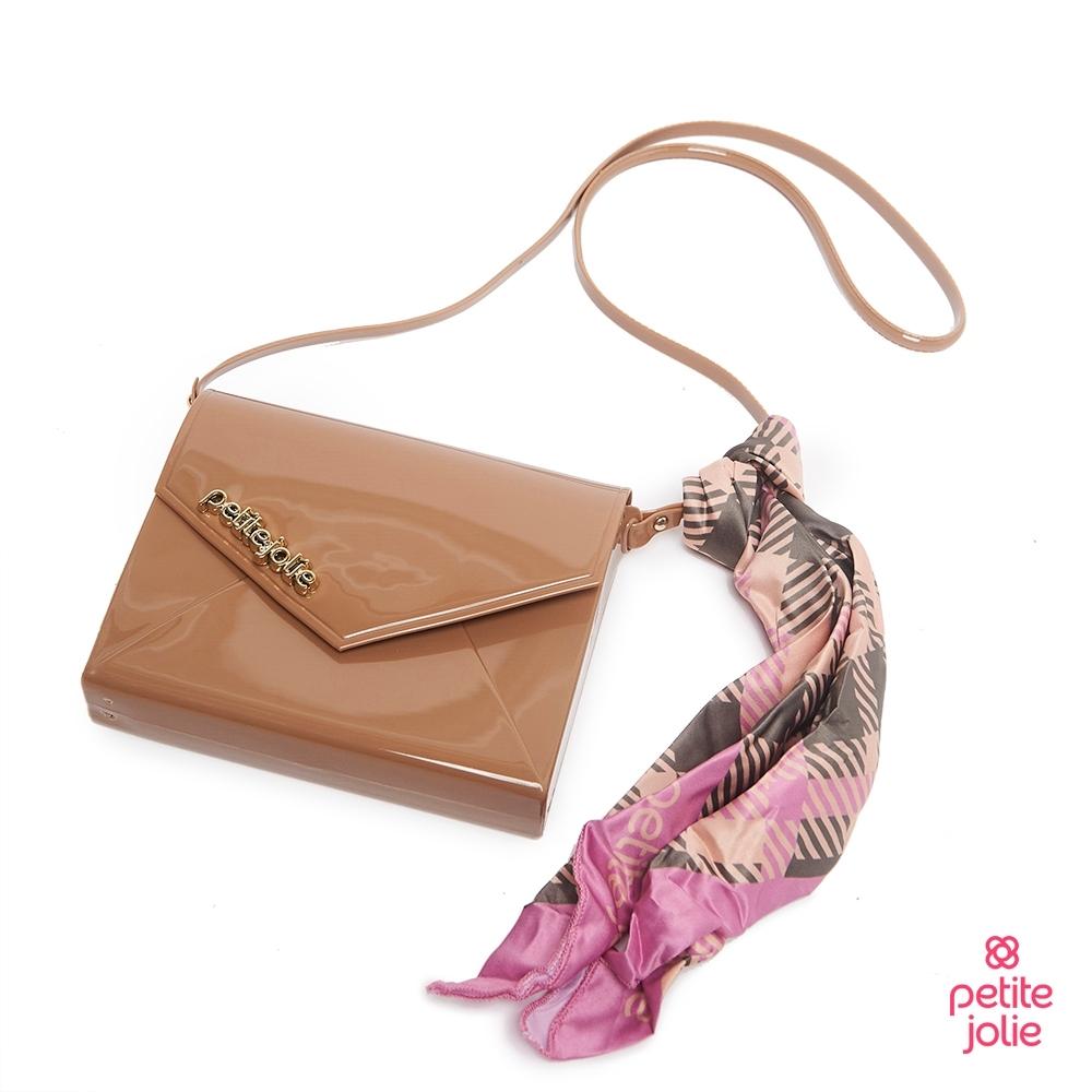 Petite Jolie--絲巾裝飾果凍信封包-牛奶糖