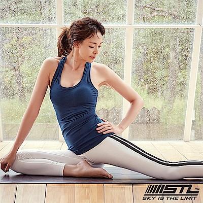 STL legging 9 韓 女 高腰側邊條運動機能拉提褲 柯林白