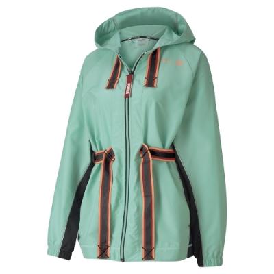 PUMA-女性訓練系列First Mile連帽風衣外套-淡粉綠-歐規