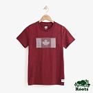 ROOTS女裝  加拿大國旗短袖T恤 -紅