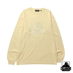 XLARGE L/S TEE EMBROIDERY OG長袖T恤-黃