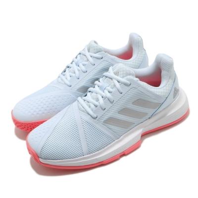 adidas 網球鞋 CourtJam Bounce 女鞋 愛迪達 輕量化鞋面 耐磨外底 避震中底 藍 銀 FU8146