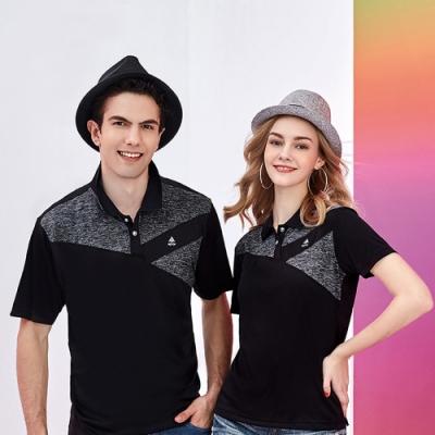 SPAR拼接細條紋女版短袖POLO衫S217212黑色