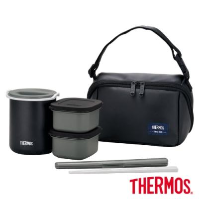 THERMOS膳魔師不鏽鋼保溫便當盒(DBQ-362-MTBK)