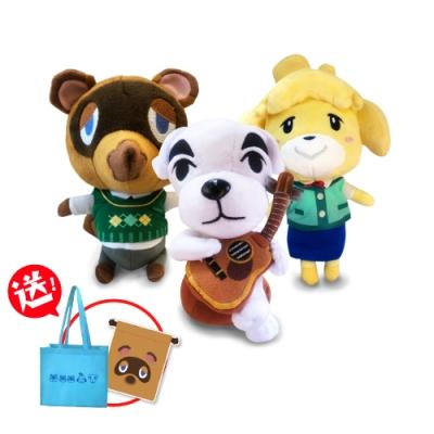 任天堂原廠授權角色娃娃- 動物森友會系列 三隻一組(送動森購物袋+束口袋)