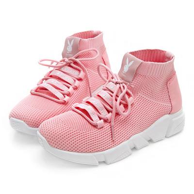 PLAYBOY獨特時尚 輕盈襪套休閒鞋-粉