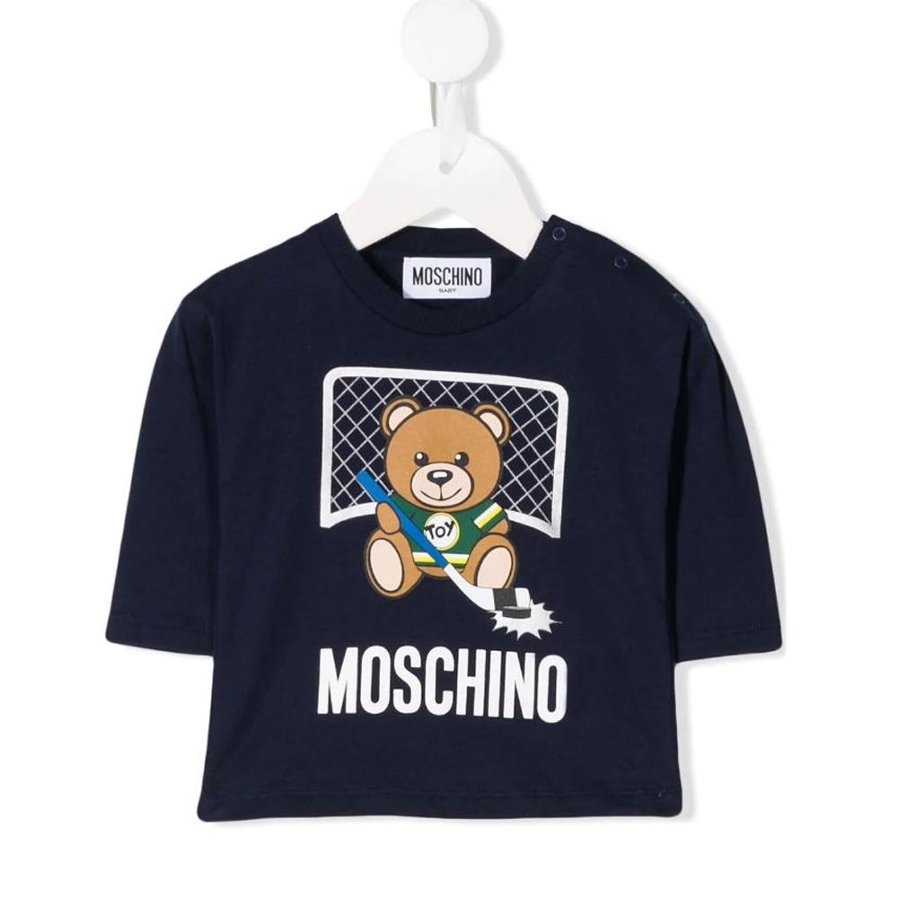 Moschino 深藍泰迪曲棍球上衣