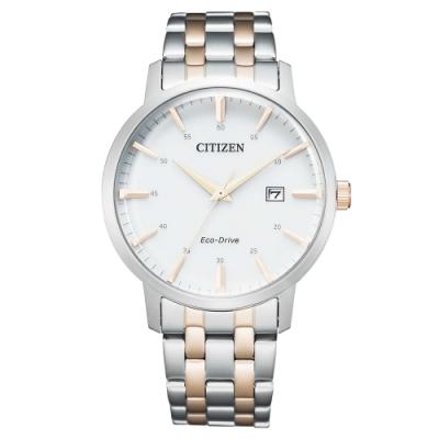 CITIZEN星辰GENT S時尚光動能男錶簡約設計錶40mm(BM7466-81H)-銀金